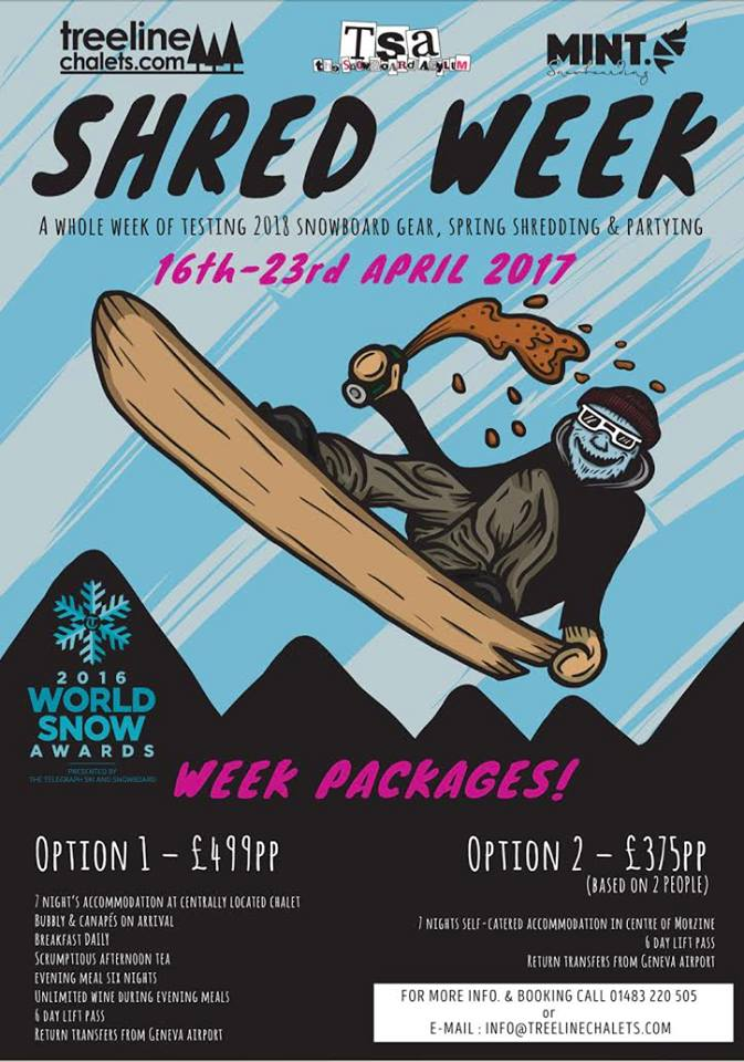TSA week Morzine 2016 with Treeline & MINT Snowboarding